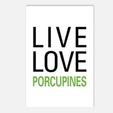 Live Love Porcupines Postcards (Package of 8)