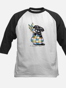 Schnauzer Sack Puppy Kids Baseball Jersey