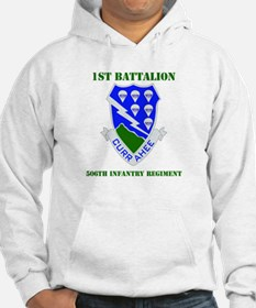 DUI - 1st Bn - 506th Infantry Regt with Text Hoode