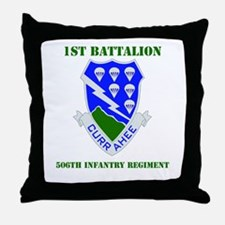 DUI - 1st Bn - 506th Infantry Regt with Text Throw
