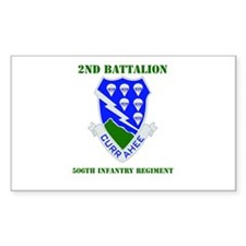 DUI - 2nd Bn - 506th Infantry Regt with Text Stick
