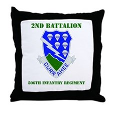 DUI - 2nd Bn - 506th Infantry Regt with Text Throw