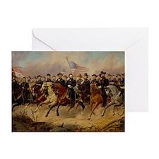 Grant & His Generals Greeting Card