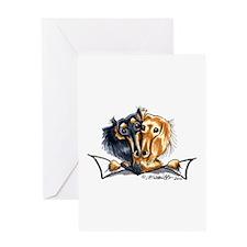 Longhair Dachshund Lover Greeting Card