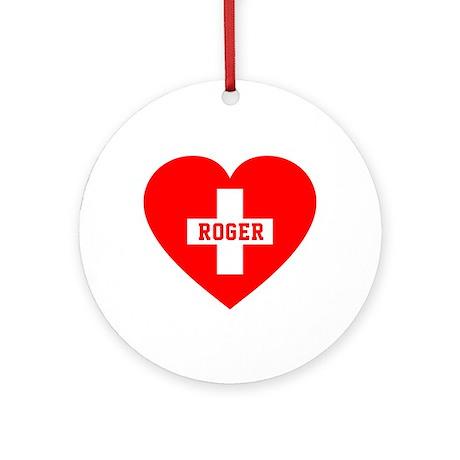 I Love Roger Ornament (Round)