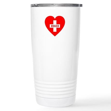 I Love Roger Stainless Steel Travel Mug