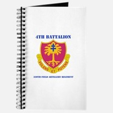 DUI - 4th Bn - 320th FA Regt with Text Journal