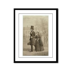 Abraham & Mary Todd Lincoln Framed Panel Print