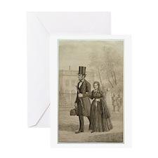 Abraham & Mary Todd Lincoln Greeting Card