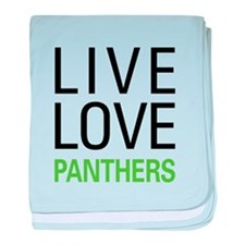 Live Love Panthers baby blanket