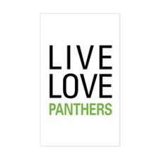 Live Love Panthers Decal