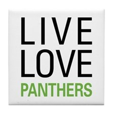 Live Love Panthers Tile Coaster
