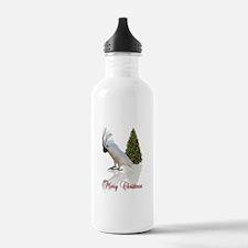 cockatoo christmas Water Bottle