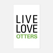 Live Love Otters Sticker (Rectangle)