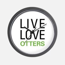 Live Love Otters Wall Clock