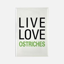 Live Love Ostriches Rectangle Magnet