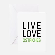 Live Love Ostriches Greeting Card