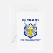 DUI - 2nd Sqdrn - 17th Cavalry Regt with Text Gree