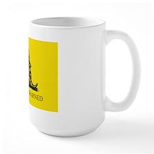 """You Were Warned"" Gadsden Flag (Mug"