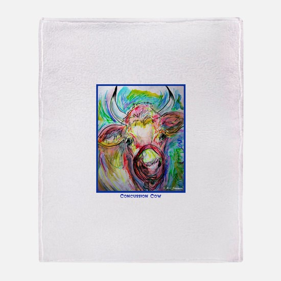 Cow, Bright, Cow, Throw Blanket