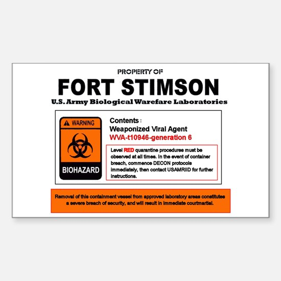 Bioweapon Containment Vessel Sticker (Rectangle)