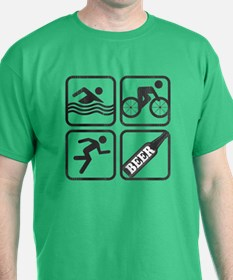 Swim Bike Run Beer! T-Shirt