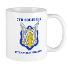 DUI - 7th Sqdrn - 17th Cavalry Regt with Text Mug