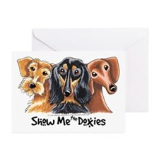 Show Me Doxies Greeting Cards (Pk of 10)