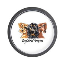 Show Me Doxies Wall Clock