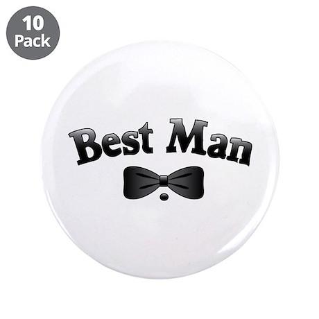 """Tuxedo Best Man 3.5"""" Button (10 pack)"""