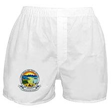 Alaska State Seal Boxer Shorts
