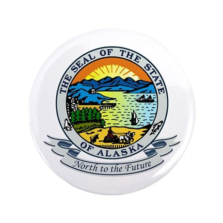 "Alaska State Seal 3.5"" Button"
