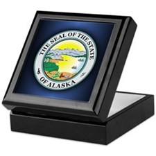 Alaska State Seal Keepsake Box