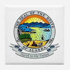 Alaska State Seal Tile Coaster