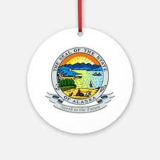 Alaska State Seal Ornament (Round)