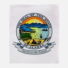 Alaska State Seal Throw Blanket