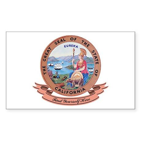 California Seal Sticker (Rectangle)
