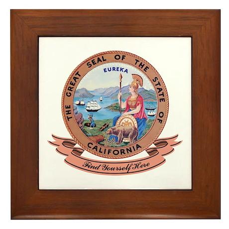 California Seal Framed Tile