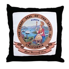 California Seal Throw Pillow