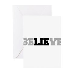 Don't Believe The Lie Greeting Cards (Pk of 20)