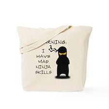 Mad Ninja Skills Tote Bag