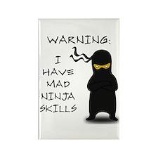 Mad Ninja Skills Rectangle Magnet