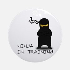 Ninja in Training Ornament (Round)