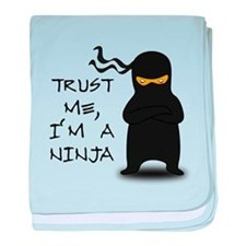 Trust Me, I'm A Ninja baby blanket