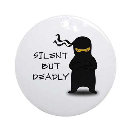 Silent but Deadly Ninja Ornament (Round)