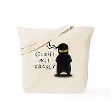 Silent but Deadly Ninja Tote Bag