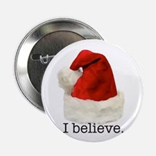 "Christmas ""I Believe"" 2.25"" Button"