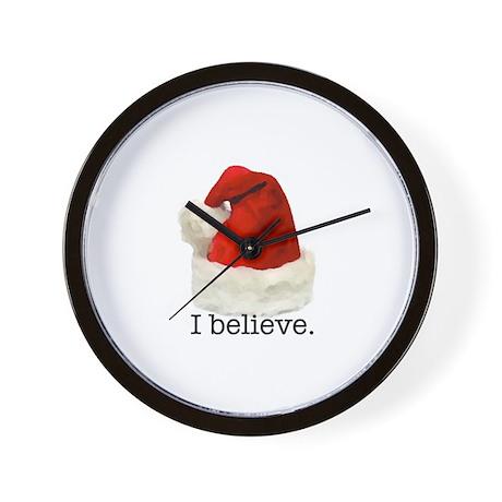 "Christmas ""I Believe"" Wall Clock"