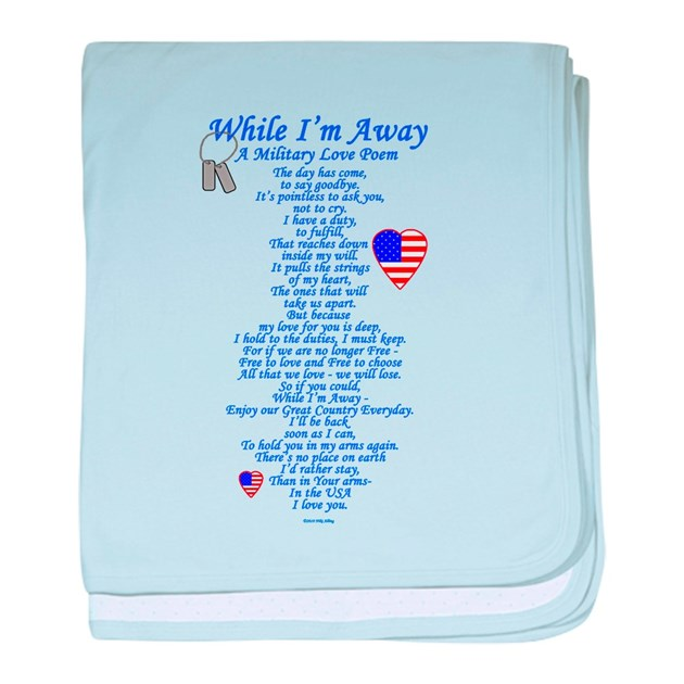 Military Love Poem Baby Blanket By Nikiclix