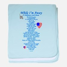 Military Love Poem baby blanket